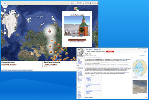 Tracking Santa in Google Maps