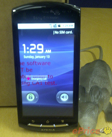 Sony Ericsson Xperia Hallon (MT15) with Android