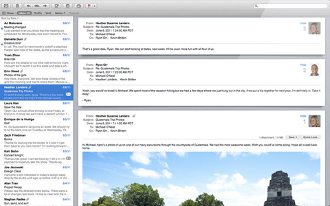 Apple, Mac OSX Lion 10.7, Email