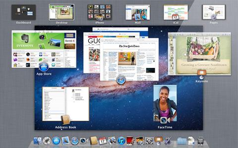Apple, Mac OSX Lion 10.7, Mission Control