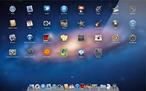 Apple, Mac OSX Lion 10.7, Launcher Pad
