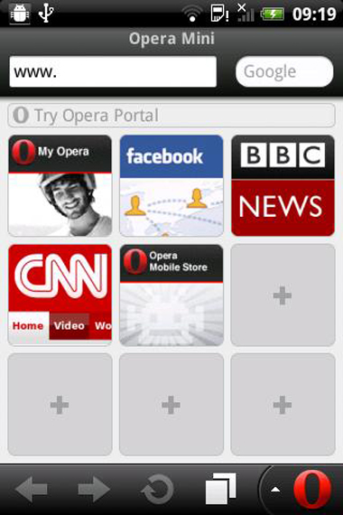 Opera Mini 6.1, Opera