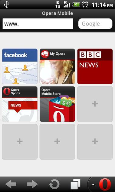 Opera, Opera Mobile 11.1
