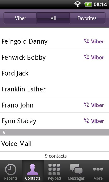 Viber, Android, iPhone