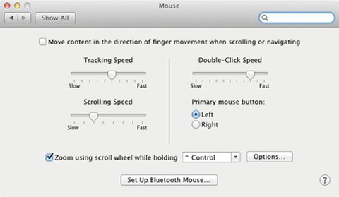 Natural' scrolling Mac OS X Lion, Apple