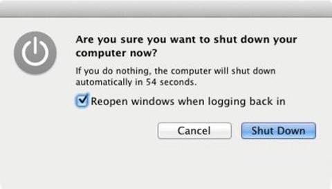 Mac OS X Lion, Apple, shutdown