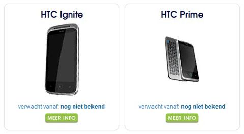 HTC Ignite và HTC Prime