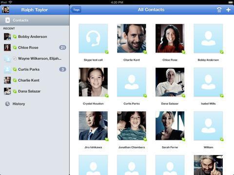Skype, iPad, Apple