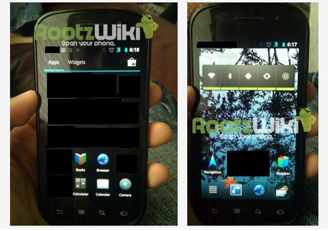 Google Nexus S, Android 4.0 Ice Cream Sandwich