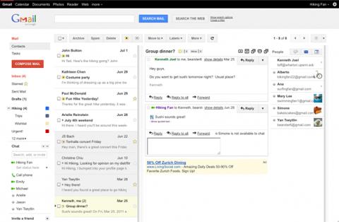 Google, Gmai, Preview Pane