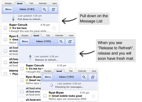 Google, Gmail mobile