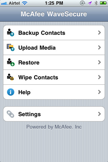 McAfee, WaveSecure, iPhone, Apple
