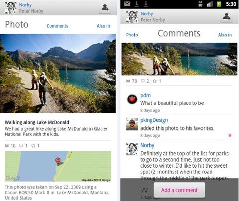 Yahoo, Google, Flickr, Android, iOS