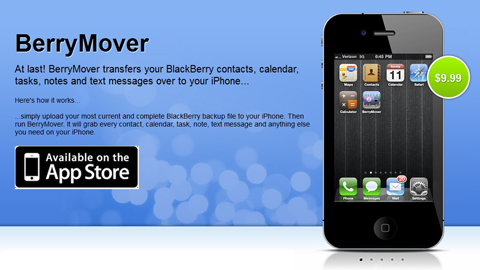 BerryMover, BlackBerry, iPhone, Apple, RIM