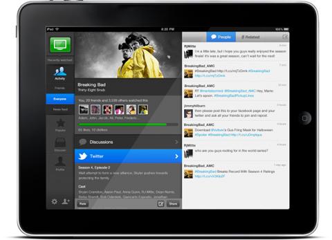 Yahoo!, IntoNow, Yahoo! Weather, Android, iPad