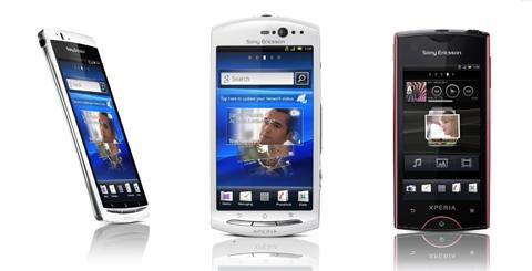 Sony Ericsson, Xperia  Arc S, Xperia Neo, Xperia Ray