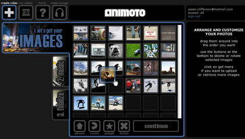 Animoto, Apple, iPhone, iOS