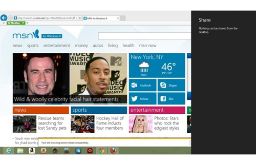 Internet Explorer 10, Windows 8, Microsoft, Modern UI, Firefox, Google Chrome, web-news