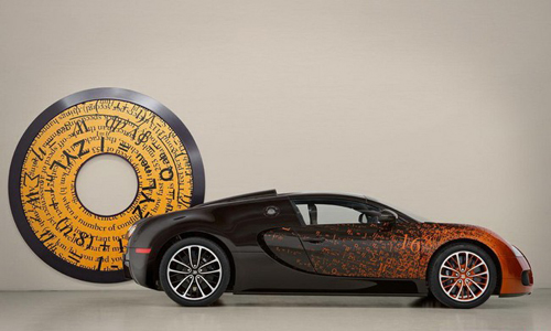 Bugatti Veyron, Veyron Grand Sport Venet, Bugatti,  Bernar Venet, Ettore Bugatti, Art Basel Miami Beach, car-news