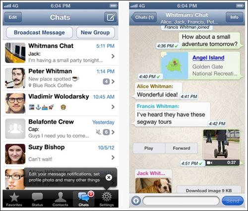 Facebook, Whatsapp, Techcrunch, Instagram, Facebook Messenger