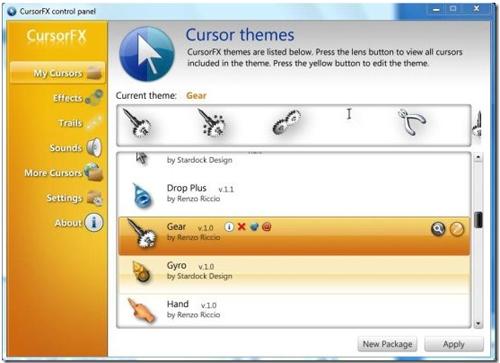 Windows, RealWorld Cursor Editor, AniTuner, Adobe Flash, DotMouse