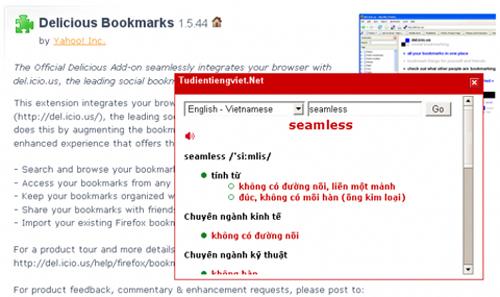 Firefox, VnDict, Baamboo, phan mem, tu dien, tra cuu, phần mềm, từ điển, tra cứu