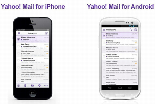 Yahoo, Yahoo Mail, Windows 8, Android, iOS, Gmail, Google, Microsoft, Hotmail