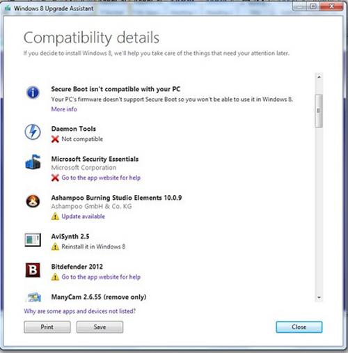 Windows, Windows 8 Upgrade Assistant, Windows 8, Windows 8 Pro