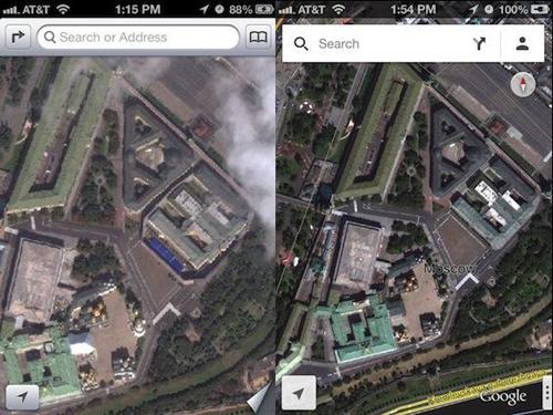 Apple, Google Maps, Apple Maps, Google