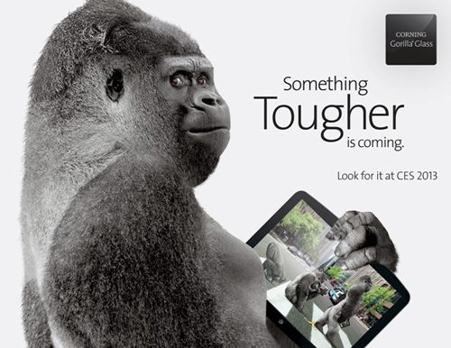 Corning, Gorilla Glass, iPhone 5, HTC Droid DNA, CES 2013