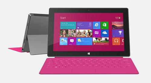 Microsoft Surface Pro, Surface RT, Windows 8 Pro,