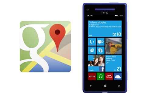 Google, Microsoft, Internet Explorer, Windows Phone, Google Maps, Firefox