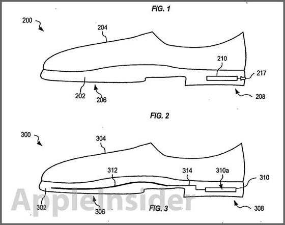 Apple, Nike, giay thong minh, dang ky ban quyen, giầy thông minh, đăng ký bản quyền