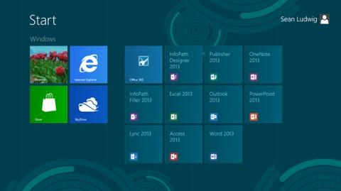 Twitter Office, Microsoft, Windows 8, Facebook