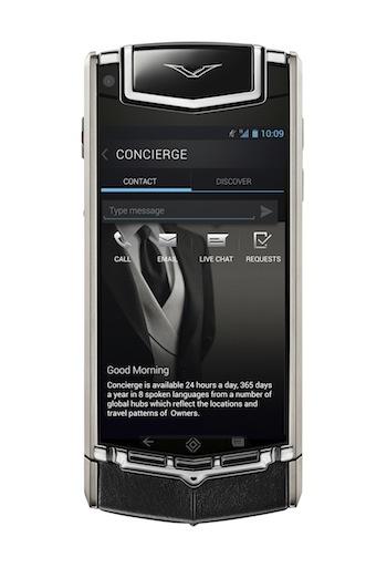 Vertu TI, Android, Skype, Hampshire