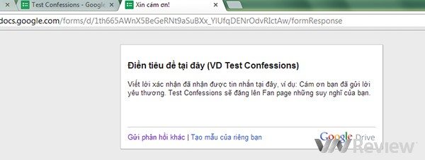 Confessions, Google Docs, Google Drive, Facebook