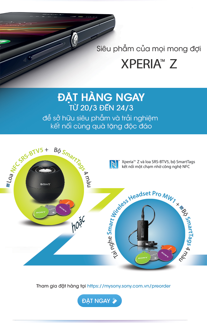 Sony, Xperia J, Xperia Z, smartphone, đặt hàng, mobile-news