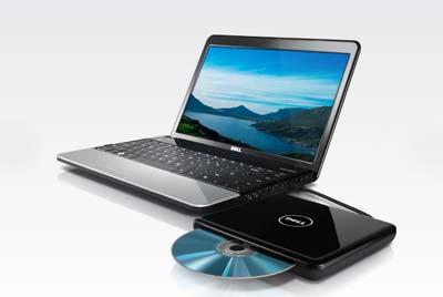 Tùy chọn ổ DVD rời dùng cổng USB hoặc eSATA. Ảnh: Dell