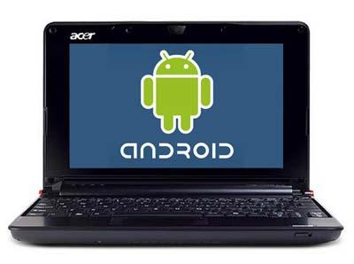Google Android mới chập chừng vào thị trường netbook. Ảnh: Acer