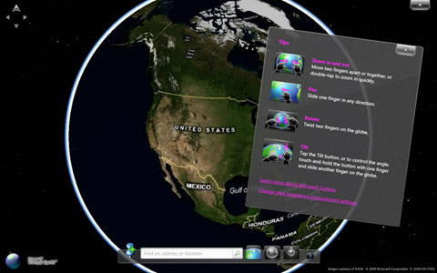 microsoft surface globe windows 7 touch pack