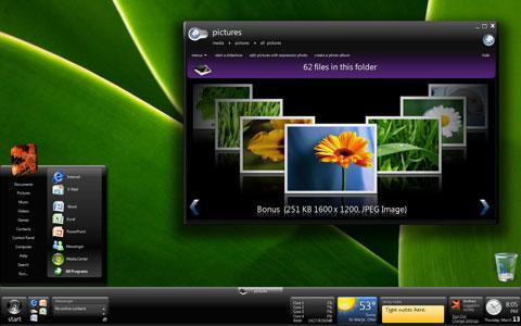 Windows 7 với nhiều tùy biến. Ảnh: eship