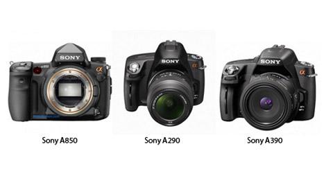 Sony a850, a290, a390