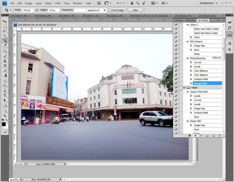 Thu thuat photoshop actions