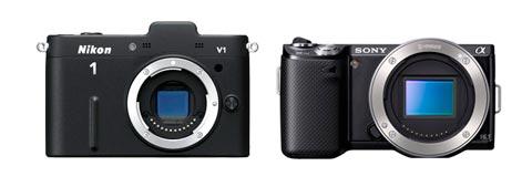 Nikon 1 v1 và NEX-5N