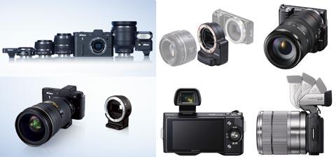 Sony NEX-5N và Nikon 1 V1