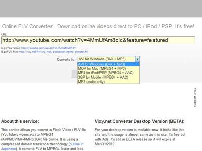 Copy link và tùy chọn định dạng cho video