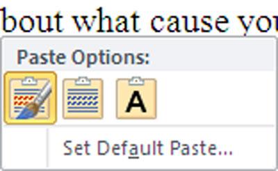 Chọn định dạng văn bản.