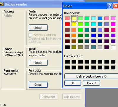 Chọn màu chữ cho phù hợp với hình nền