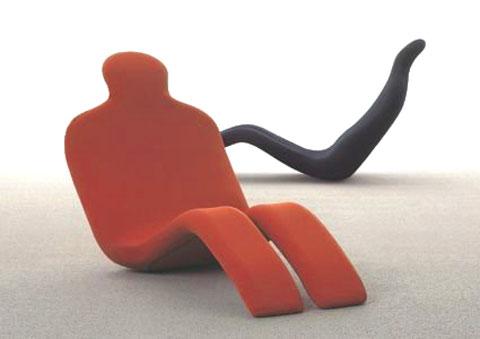 Ghế có hình dáng cơ thể con người.
