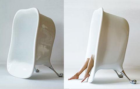 """Ghế ngồi hình """"bồn tắm"""""""